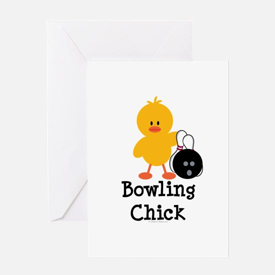 Bowling Chick Greeting Card