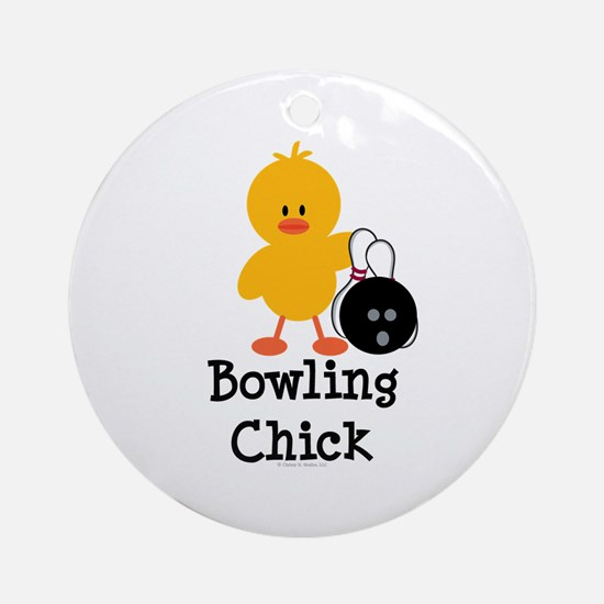 Bowling Chick Ornament (Round)