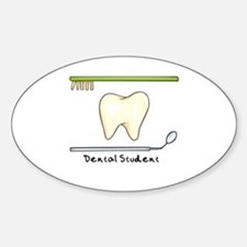 I am a dental student Oval Decal