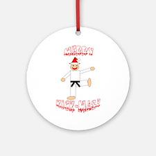 Martial Arts Christmas Ornament (Round)