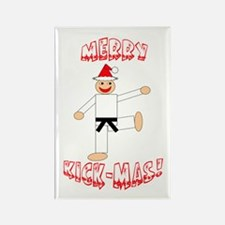 Martial Arts Christmas Rectangle Magnet