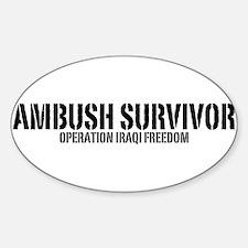 Ambush Survivor - Iraq Oval Decal