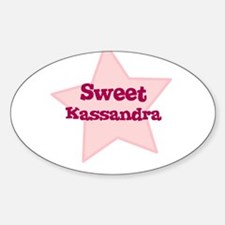 Sweet Kassandra Oval Decal