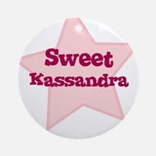 Sweet Kassandra Ornament (Round)