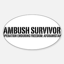 Ambush Survivor - Afghanistan Oval Decal