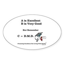 C=DMD Oval Decal