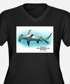 Great Hammerhead Shark Women's Plus Size V-Neck Da