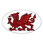 Midrealm red dragon Vinyl euro-style sticker
