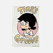 Tina Face With Logo Rectangle Magnet