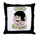 Tina Face With Logo Throw Pillow