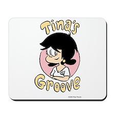 Tina Face With Logo Mousepad