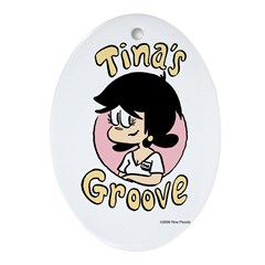 Tina Face With Logo Oval Ornament