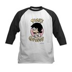 Tina Face With Logo Kids Baseball Jersey
