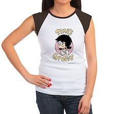 Tina Face With Logo Women's Cap Sleeve T-Shirt
