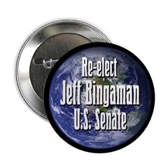 Re-elect Jeff Bingaman to Senate campaign button