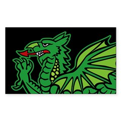 Midrealm BLK Dragon vinyl euro-style Decal