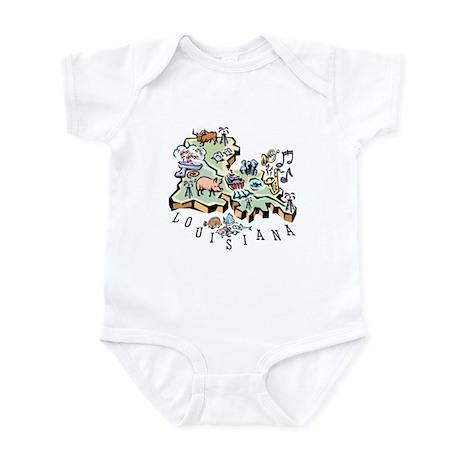 Louisiana Map Infant Bodysuit