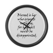 Blessed is he Large Wall Clock