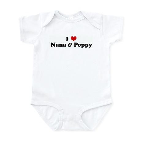 I Love Nana & Poppy Infant Bodysuit