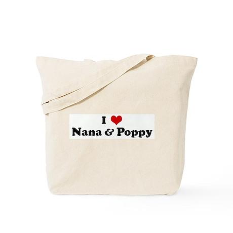 I Love Nana & Poppy Tote Bag