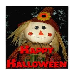 Happy Halloween Scarecrow Tile Coaster