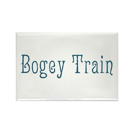 Bogey Train Rectangle Magnet (100 pack)