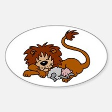 Lion and Lamb Oval Decal