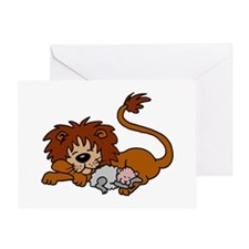Lion and Lamb Greeting Card