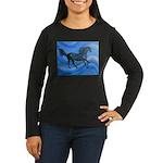 black horse Women's Long Sleeve Dark T-Shirt