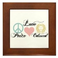 Peace love Edward Cullen Framed Tile