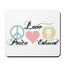 Peace love Edward Cullen Mousepad