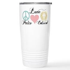 Peace love Edward Cullen Travel Mug