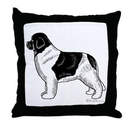 Newfoundland Throw Pillow (Landseer)