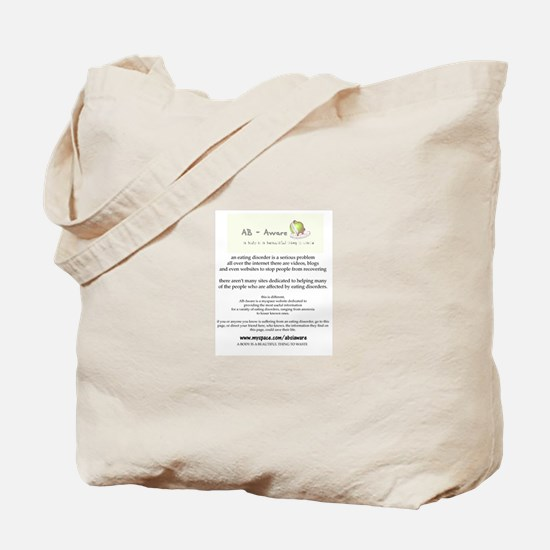 Eating Disorder Awareness: Tote Bag