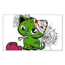 Zombie Kitty Rectangle Sticker 50 pk)