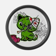 Zombie Kitty Large Wall Clock