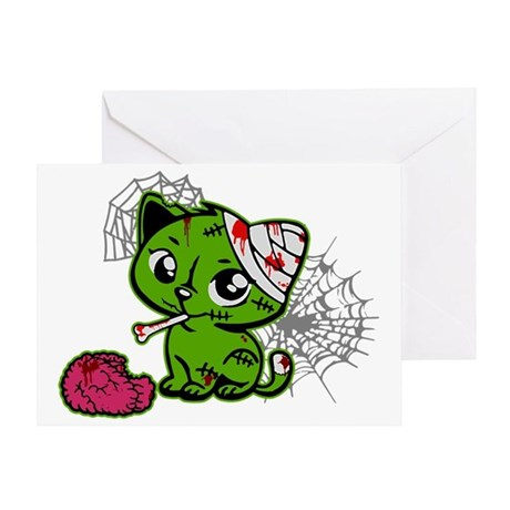 Zombie Kitty Greeting Card