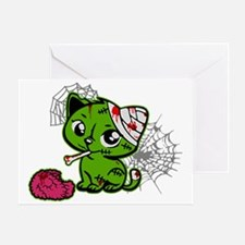 Zombie Kitty Greeting Card