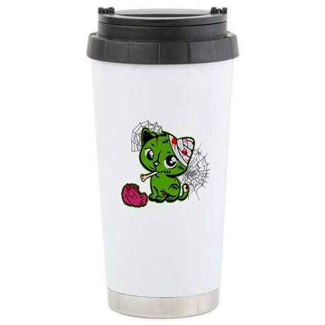 Zombie Kitty Stainless Steel Travel Mug