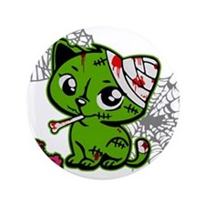 "Zombie Kitty 3.5"" Button (100 pack)"