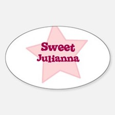 Sweet Julianna Oval Decal