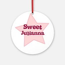 Sweet Julianna Ornament (Round)