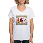 Family Cards Women's V-Neck T-Shirt