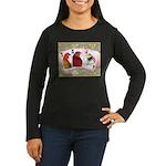 Family Cards Women's Long Sleeve Dark T-Shirt