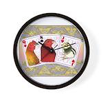 Family Cards Wall Clock