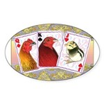 Family Cards Oval Sticker