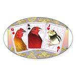 Family Cards Oval Sticker (50 pk)