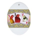 Family Cards Oval Ornament