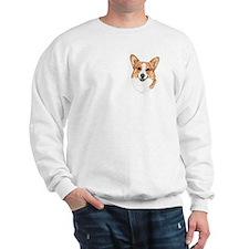 Welsh Corgi United Paws USA Flag Sweatshirt