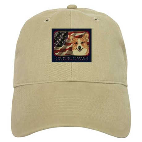 Welsh Corgi United Paws USA Flag Cap